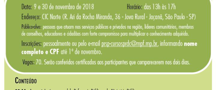 """Palestras e Oficinas no Projeto """"Promoção de Cidadania e Governança Democrática"""